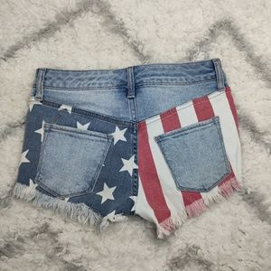 Mossimo American Flag Distressed Cut Off Shorts